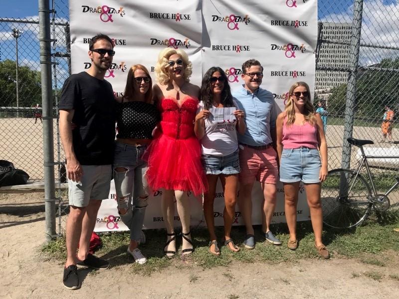 Group photo at drag ball 2019