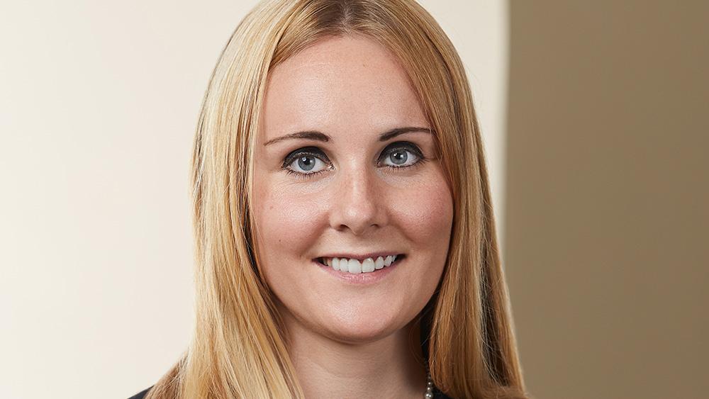 Litigation lawyer Sarah Mack of Kelly Santini LLP in Ottawa