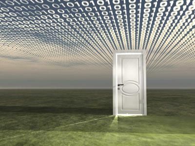 Door opening to the world of digital real estate